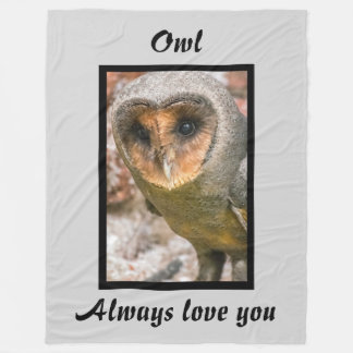 Valentines Barn Owl Fleece Blanket