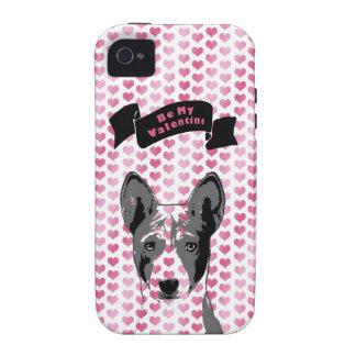 Valentines - Basenji Silhouette Case-Mate iPhone 4 Case