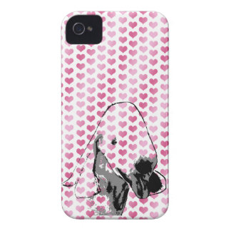 Valentines - Bedlington Terrier Silhouette iPhone 4 Cover