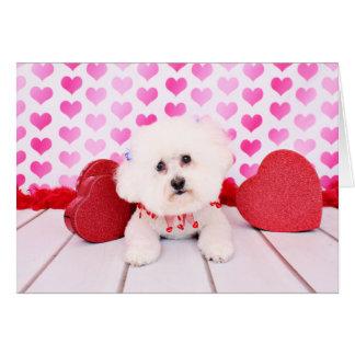 Valentines - Bichon Frise - Lilly Card