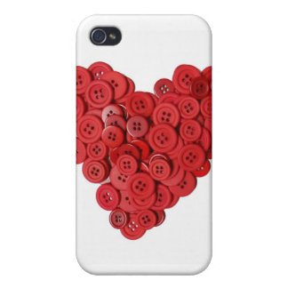 Valentine's button heart case for the iPhone 4