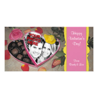 Valentine's Candy Box Frame Template Personalized Photo Card