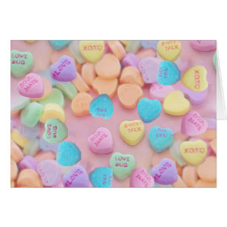valentines candy hearts card