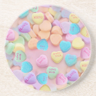 valentines candy hearts coasters