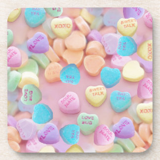 valentines candy hearts drink coaster