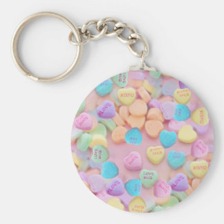 valentines candy hearts keychain
