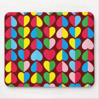 Valentines Candy Hearts Mouse Pad