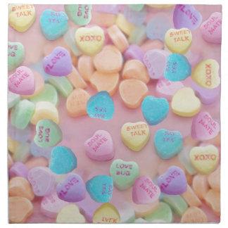 valentines candy hearts napkin