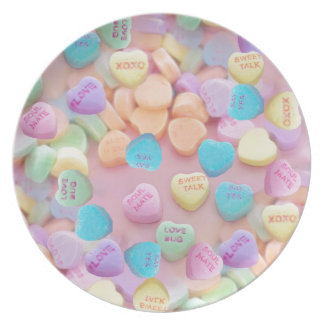 valentines candy hearts plate