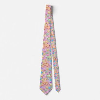 valentines candy hearts tie