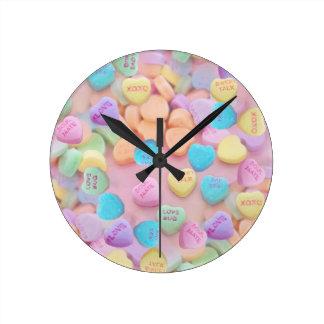 valentines candy hearts wall clocks