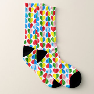 Valentines Candy Swirl Hearts Socks