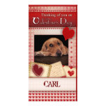 Valentine's card from the dog personalized photo card