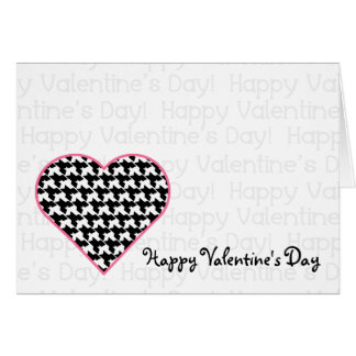 Valentine's Card - Houndstooth Heart