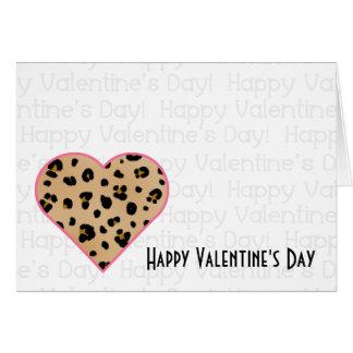 Valentine's Card - Leopard Print Heart