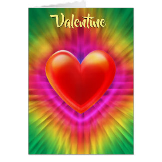 Valentine's card psychedelic love heart design.
