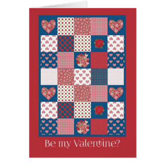 Valentine's Card, Secret Pal, Hearts, Roses Greeting Card