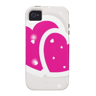 Valentines cards with two hearts iPhone 4/4S cover