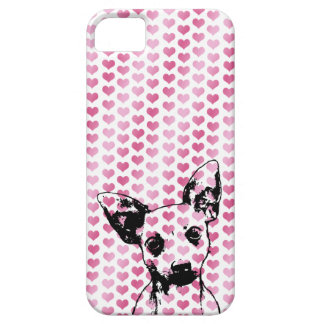 Valentines - Chihuahua Silhouette iPhone 5 Cases