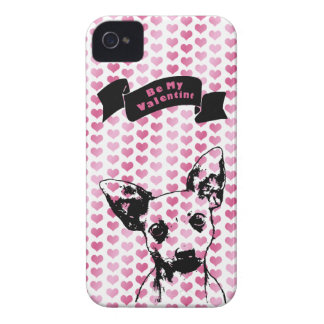 Valentines - Chihuahua Silhouette iPhone 4 Case-Mate Cases