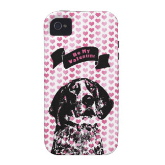 Valentines - Coonhound Silhouette - Chuck iPhone 4/4S Cases