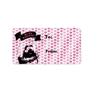 Valentines - coton de Tulear Silhouette Étiquettes D'adresse