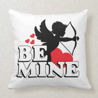 Valentines Cupid Heart Throw Pillow