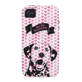 Valentines - Dalmatian Dog Silhouette Case-Mate iPhone 4 Cases