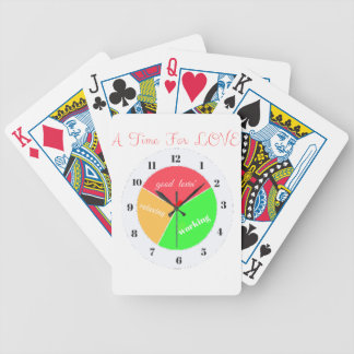 VALENTINES DAY  A TIME FOR LOVE  T-SHIRT BICYCLE PLAYING CARDS