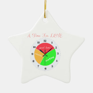 VALENTINES DAY  A TIME FOR LOVE  T-SHIRT CERAMIC ORNAMENT