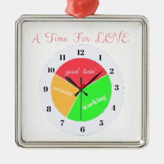 VALENTINES DAY  A TIME FOR LOVE  T-SHIRT METAL ORNAMENT
