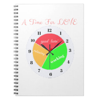VALENTINES DAY  A TIME FOR LOVE  T-SHIRT SPIRAL NOTEBOOK