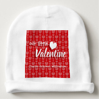 Valentine's Day Baby Beanie Red Pink Hearts