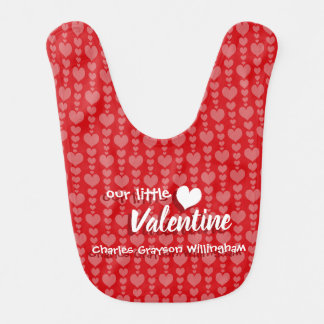 Valentine's Day Baby Bib Sweet Red and Pink Hearts