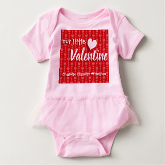 Valentine's Day Baby Girl Bodysuit Red Pink Hearts