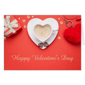Valentines Day Background. Copy Space. Top View Card