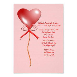 Valentine's Day Balloon Invitation