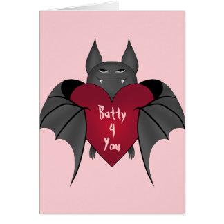 Valentines Day bat Card