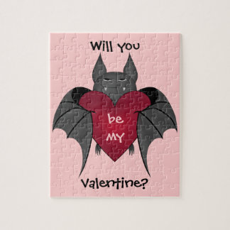 Valentine's Day bat love Jigsaw Puzzle