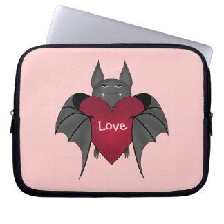 Valentine's Day bat love Laptop Sleeve