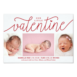 Valentine's Day Birth Announcement with Photos