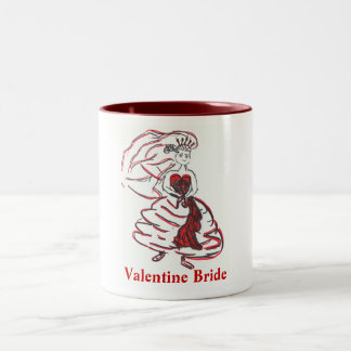 Valentine's Day Bride/Bachelorette Two-Tone Mug
