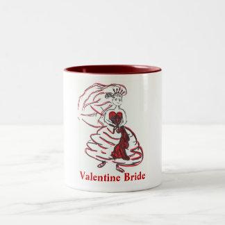 Valentine's Day Bride/Bachelorette Two-Tone Coffee Mug