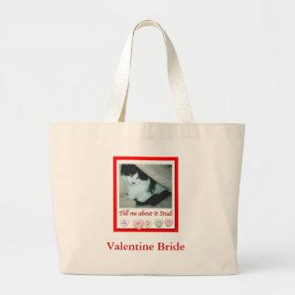 Valentine's Day Bride Jumbo Tote Bag
