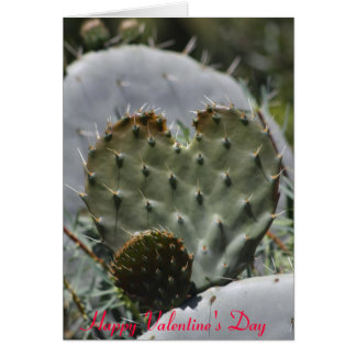 Valentine's day cactus card