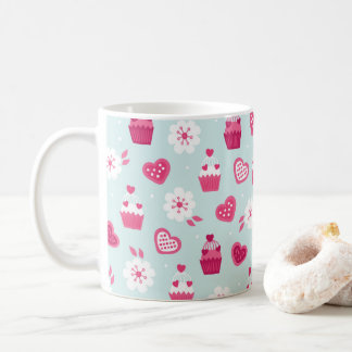 Valentine's Day Candy Hearts Cupcakes Flowers Coffee Mug