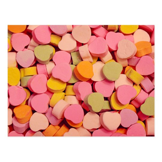 Valentine's Day Candy Hearts Postcard
