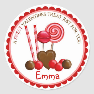 Valentines Day Candy Stickers