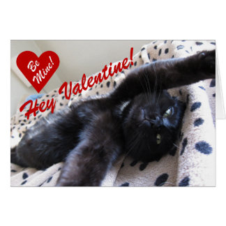 Valentine's Day card featuring a cute cat