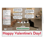 Valentine's Day card for cat lovers